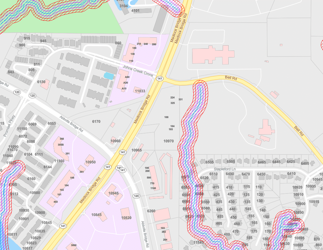 Map without Watershed on Medlock Bridge Rd - Johns Creek Post