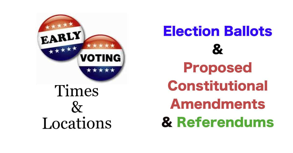 Fulton County Ballots for General Election & Proposed Constitutional Amendments & Referendums.