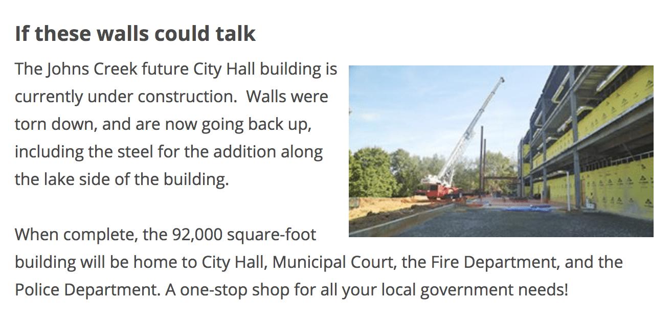Rumors Page City Hall Johns Creek Post