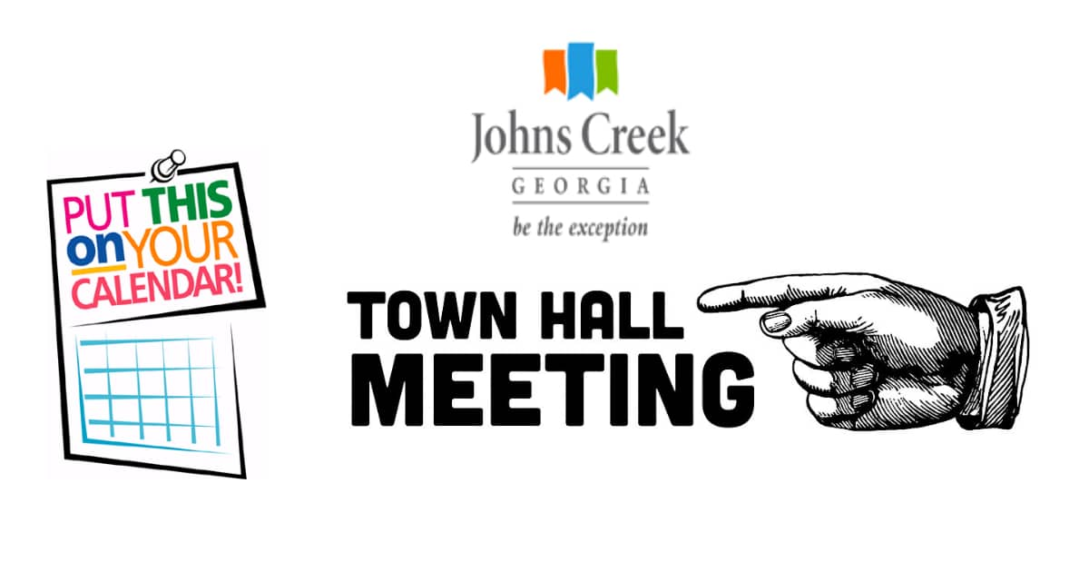 Johns Creek Town Hall meeting Johns Creek Post