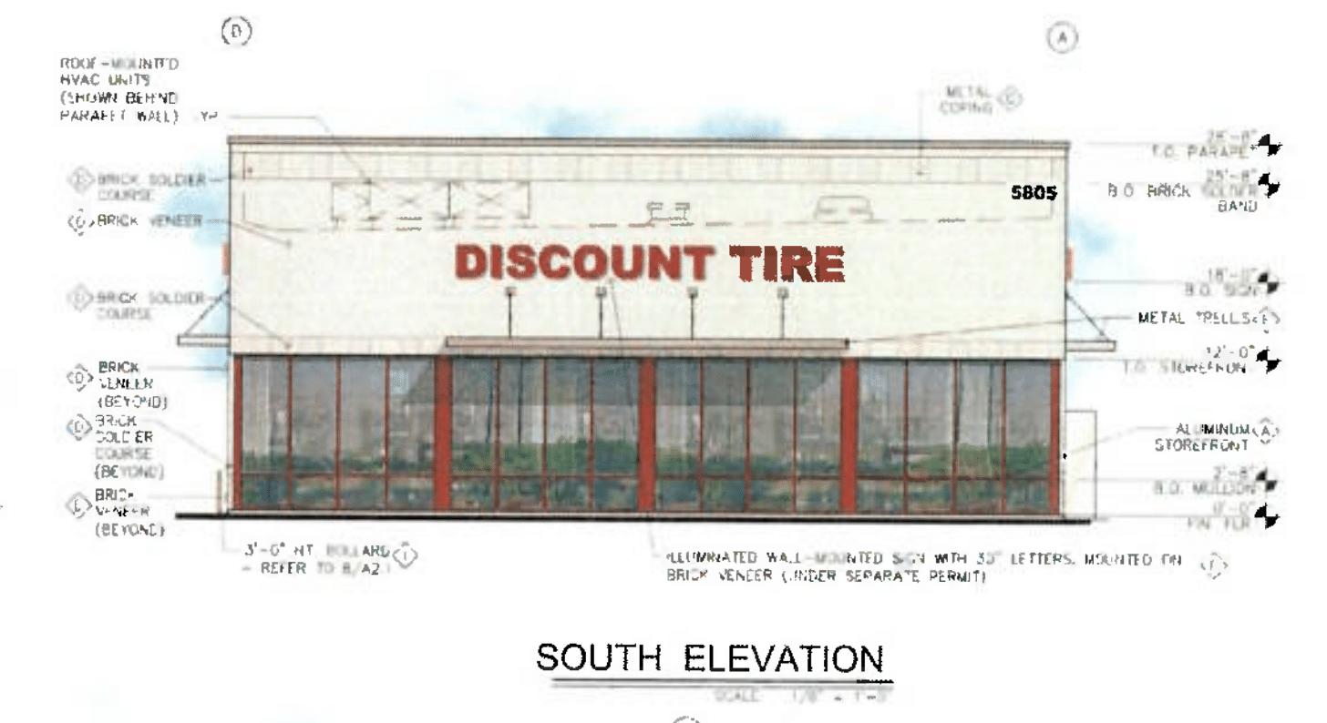 Discount tire rendering