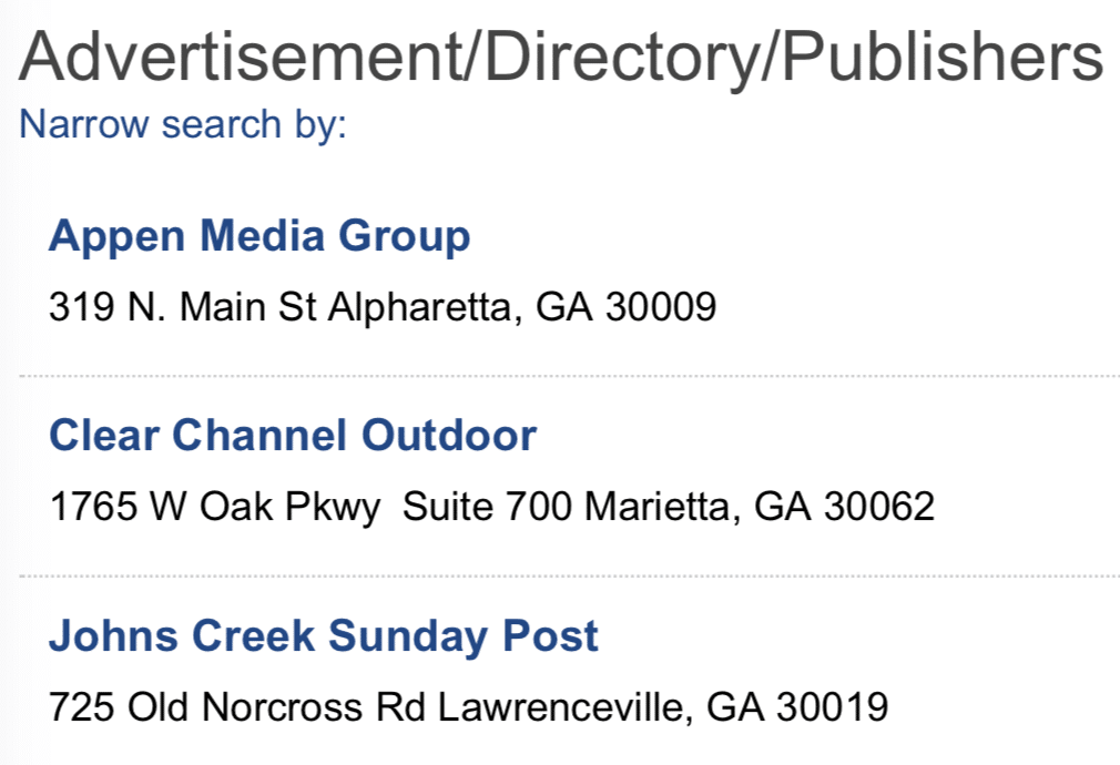 Johns Creek Chamber Website