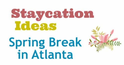 Spring Break - Atlanta Staycation Ideas!