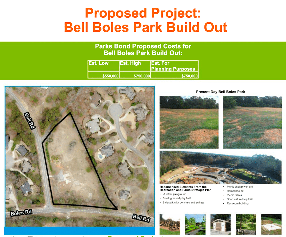 Bell Boles Proposed Park