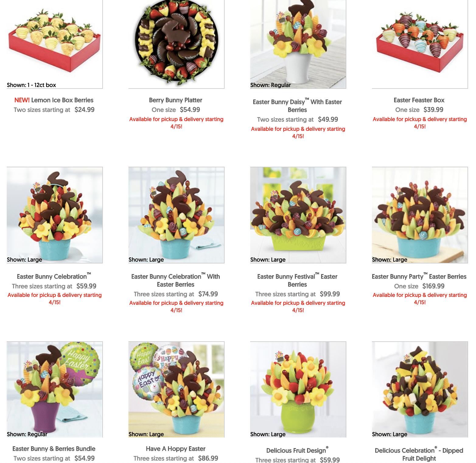 Easter Edibles Arrangements