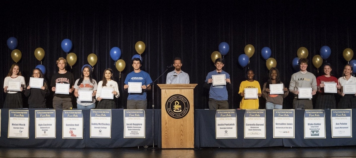 St Pius Fine Arts College Signing Day