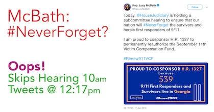 McBath SKIPS 9-11 Hearing