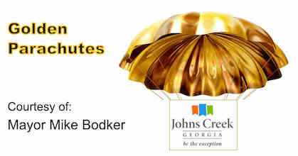 Johns Creek City Manager golden parachute