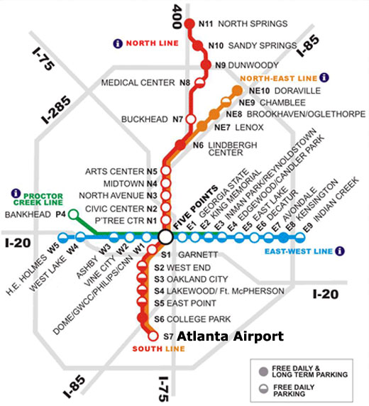 Atlanta marta station line map