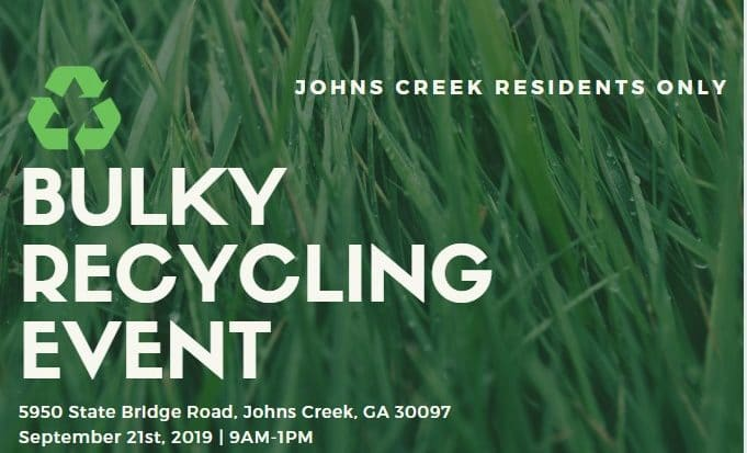 Bulky Recycling Event for Johns Creek