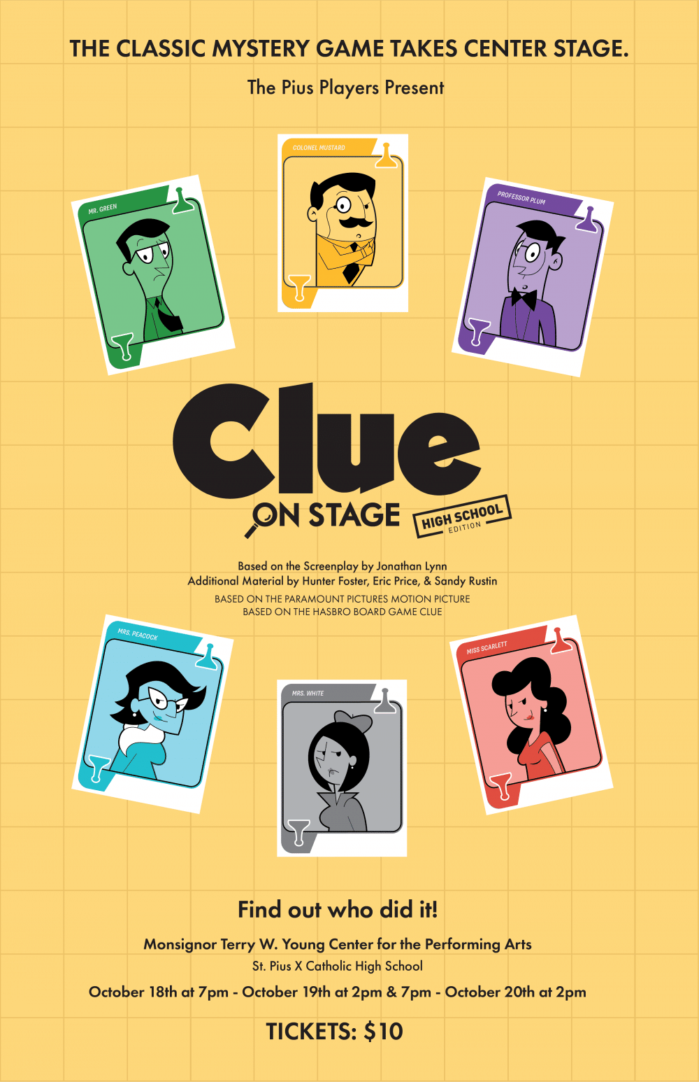 Pius Players Presents Clue