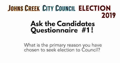 Johns Creek City Council - Election 2019