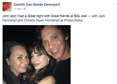 Cori Davenport & John Hartrampf party at concert 3 months after Billboard settlement