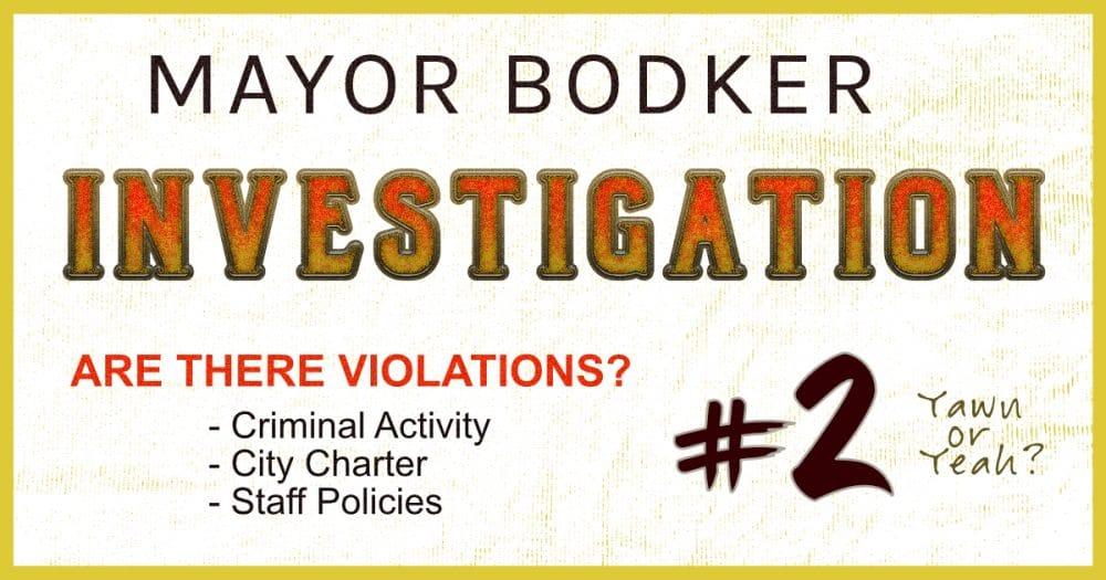 Mayor investigation