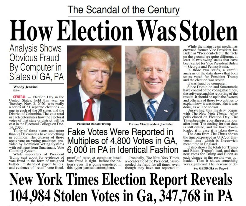 Fake votes in Georgia