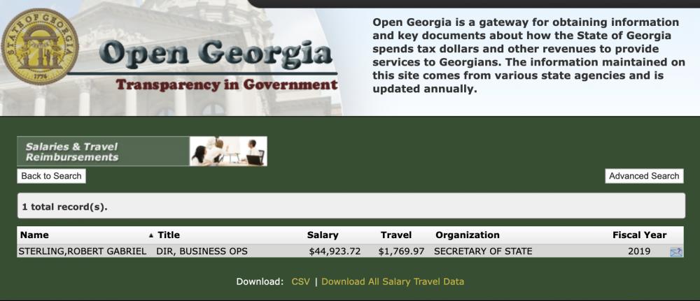 Gabriel Sterling - State of Georgia Employer