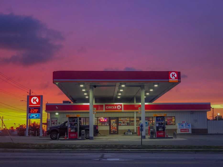 Circle gasoline station