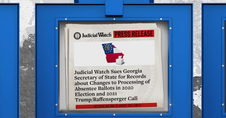 Judicial Watch - Georgia Lawsuit