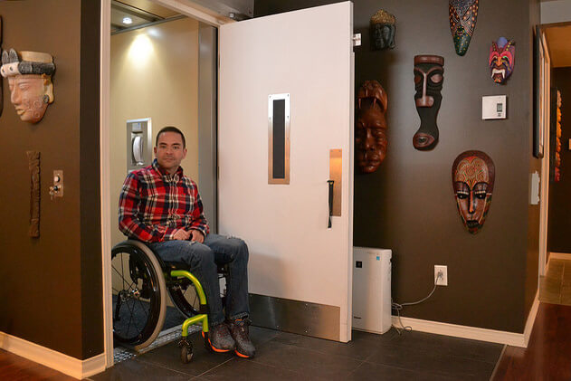 residential elevator for wheelchairs
